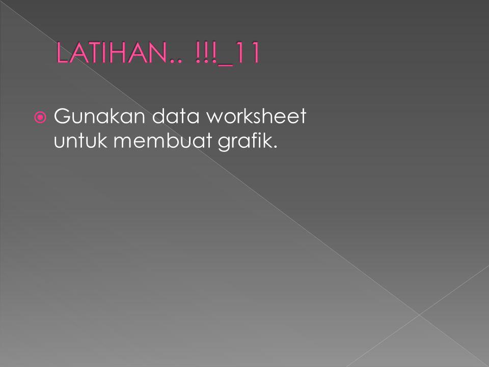 LATIHAN.. !!!_11 Gunakan data worksheet untuk membuat grafik.