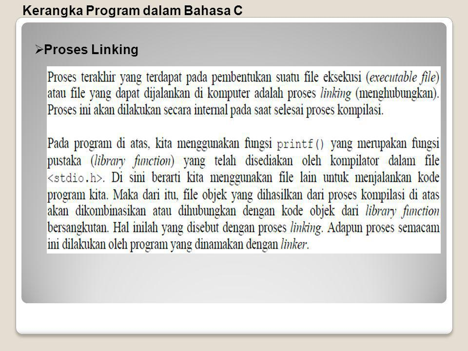 Kerangka Program dalam Bahasa C