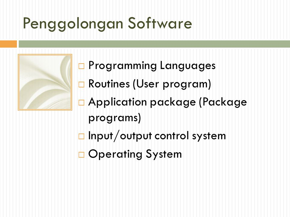 Penggolongan Software