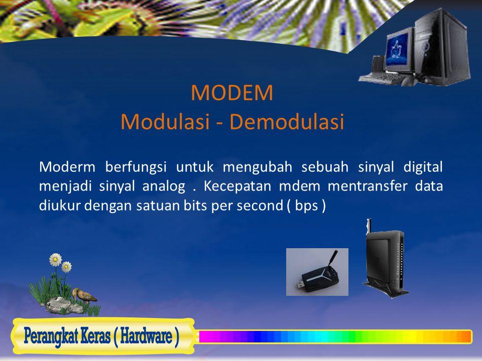 MODEM Modulasi - Demodulasi