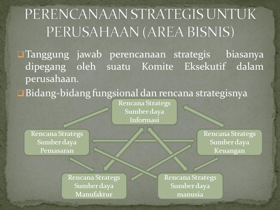 PERENCANAAN STRATEGIS UNTUK PERUSAHAAN (AREA BISNIS)