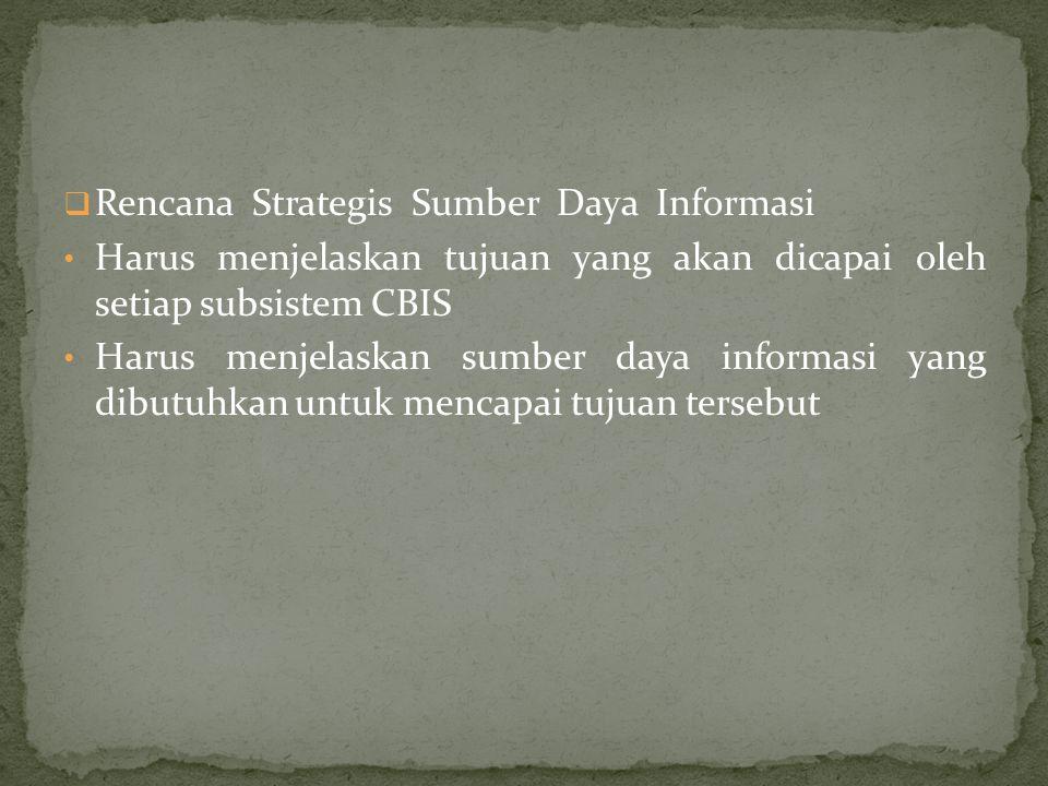Rencana Strategis Sumber Daya Informasi