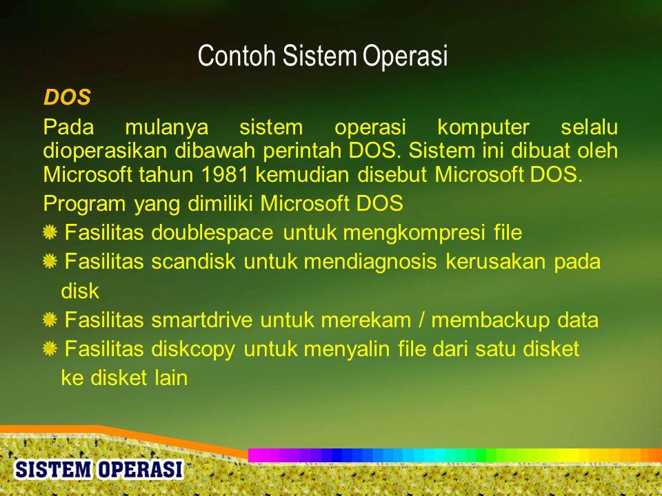 Contoh Sistem Operasi DOS