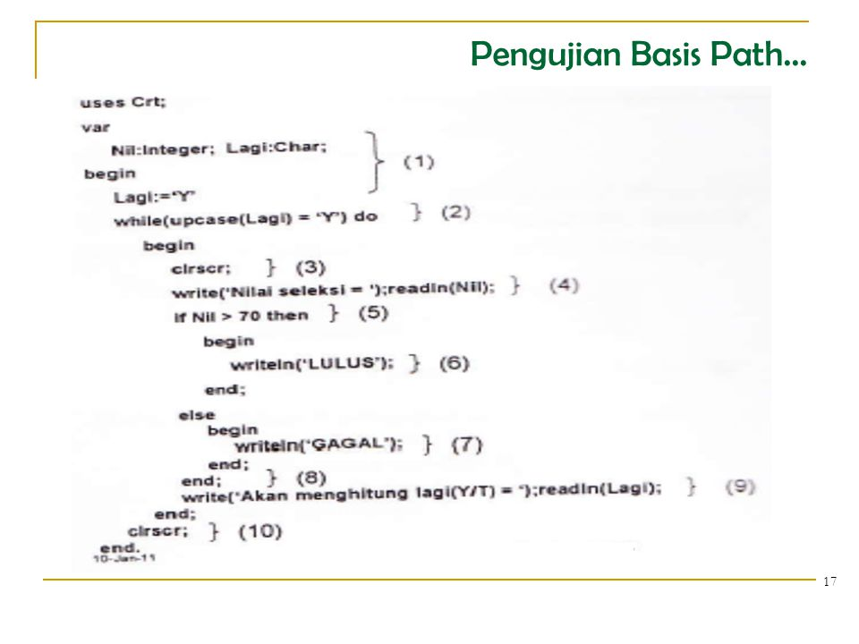 Pengujian Basis Path...