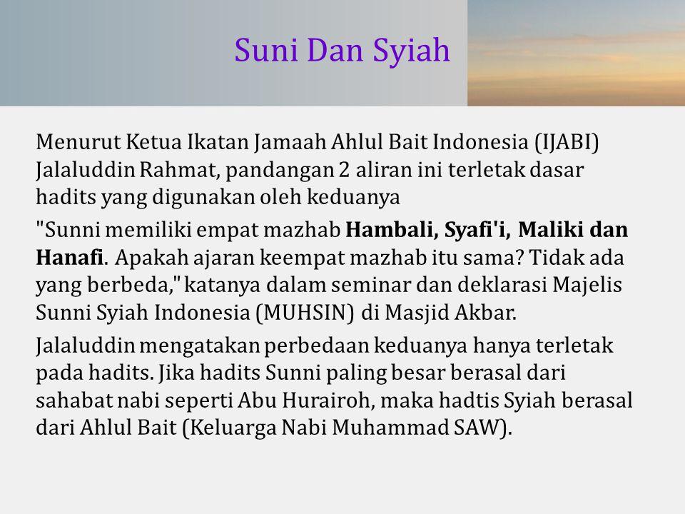 Suni Dan Syiah