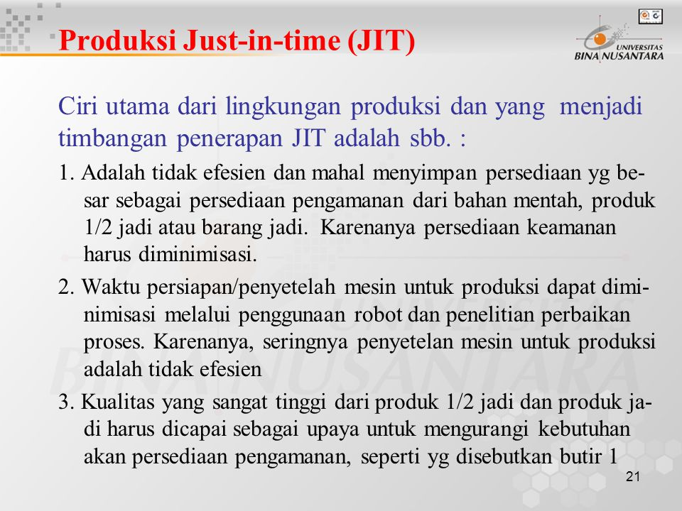 Produksi Just-in-time (JIT)