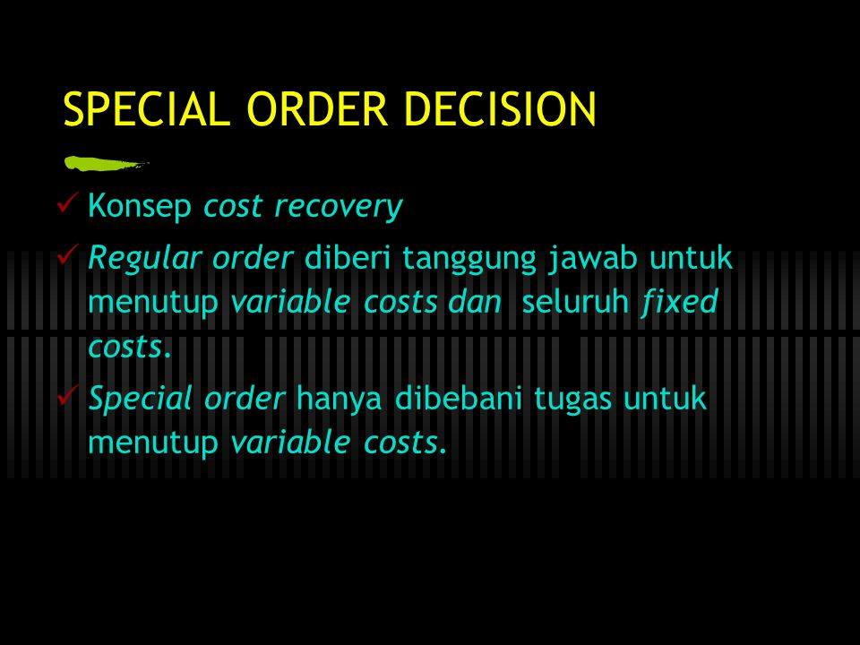 SPECIAL ORDER DECISION