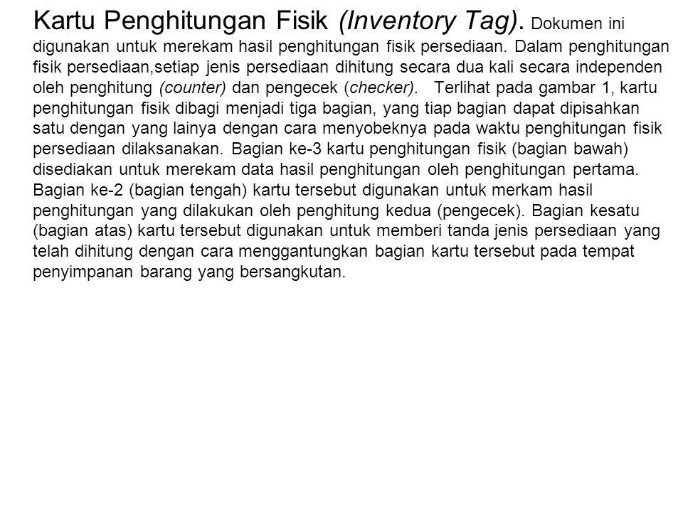 Kartu Penghitungan Fisik (Inventory Tag)