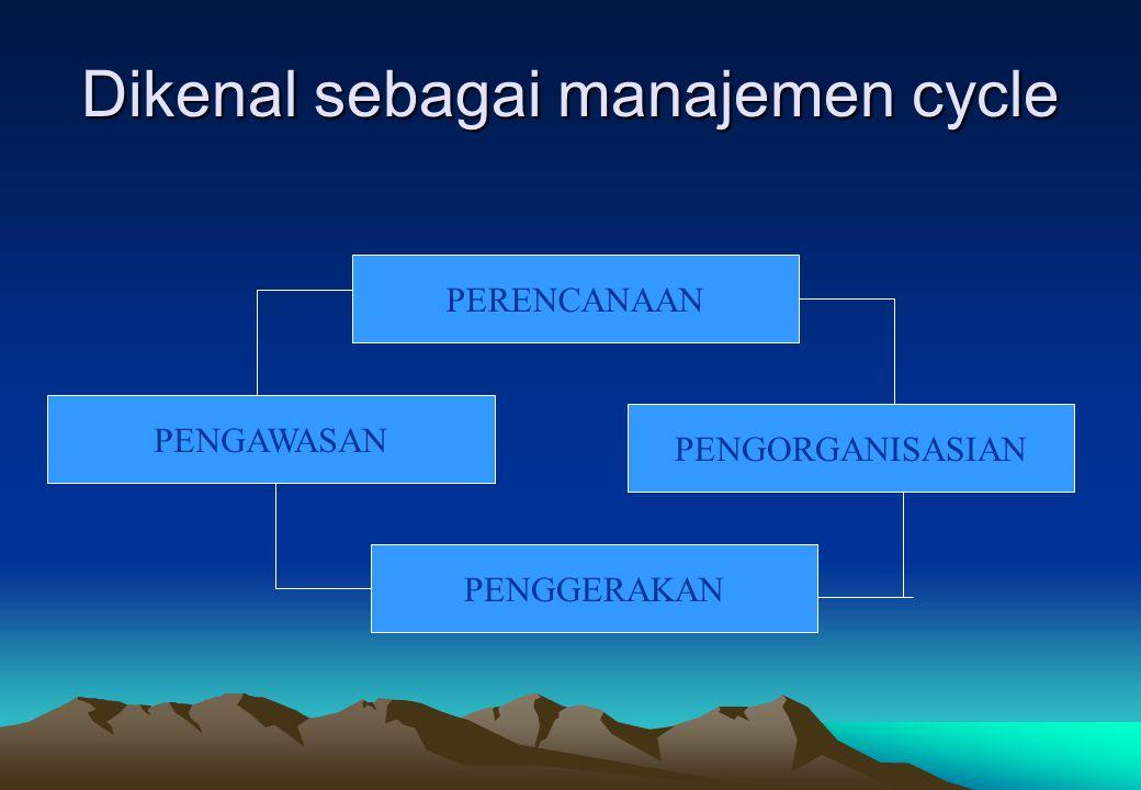 Dikenal sebagai manajemen cycle