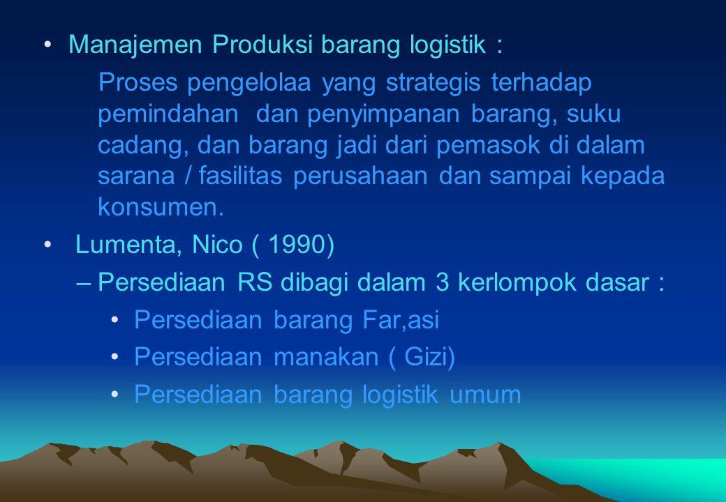 Manajemen Produksi barang logistik :