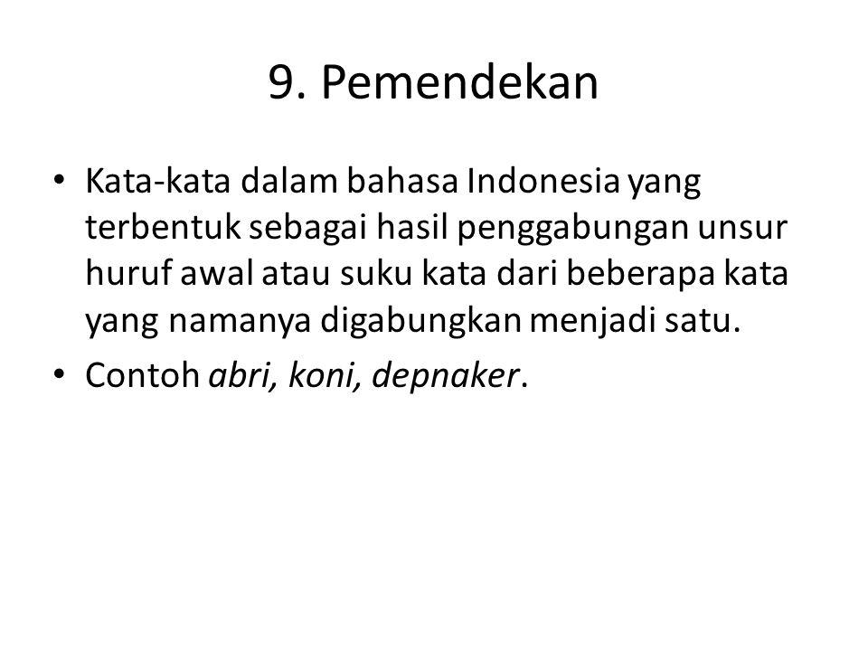 9. Pemendekan