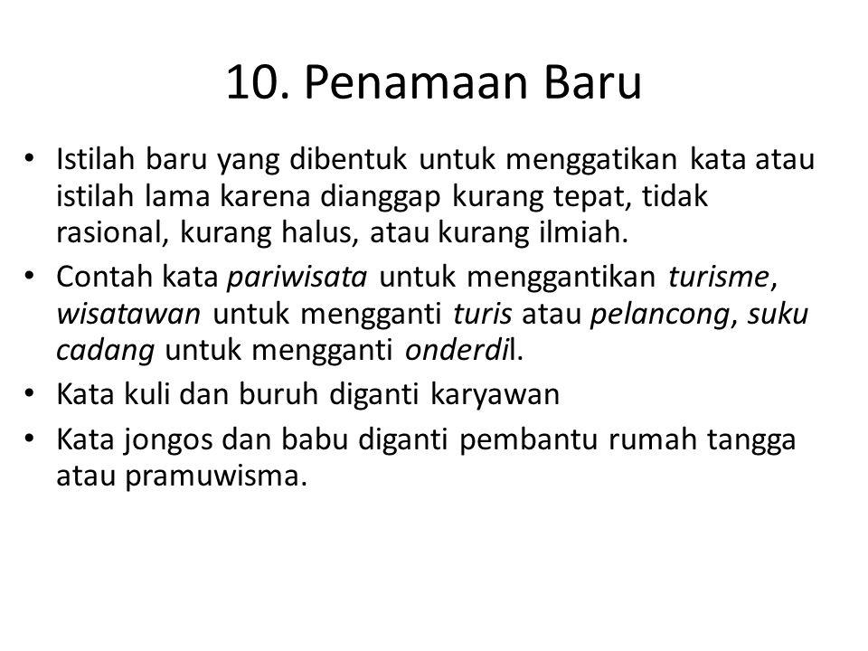 10. Penamaan Baru