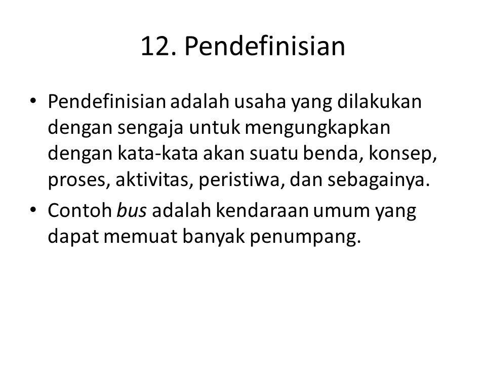 12. Pendefinisian