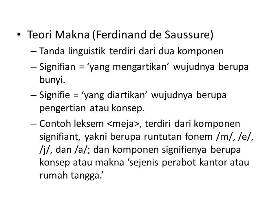 Teori Makna (Ferdinand de Saussure)