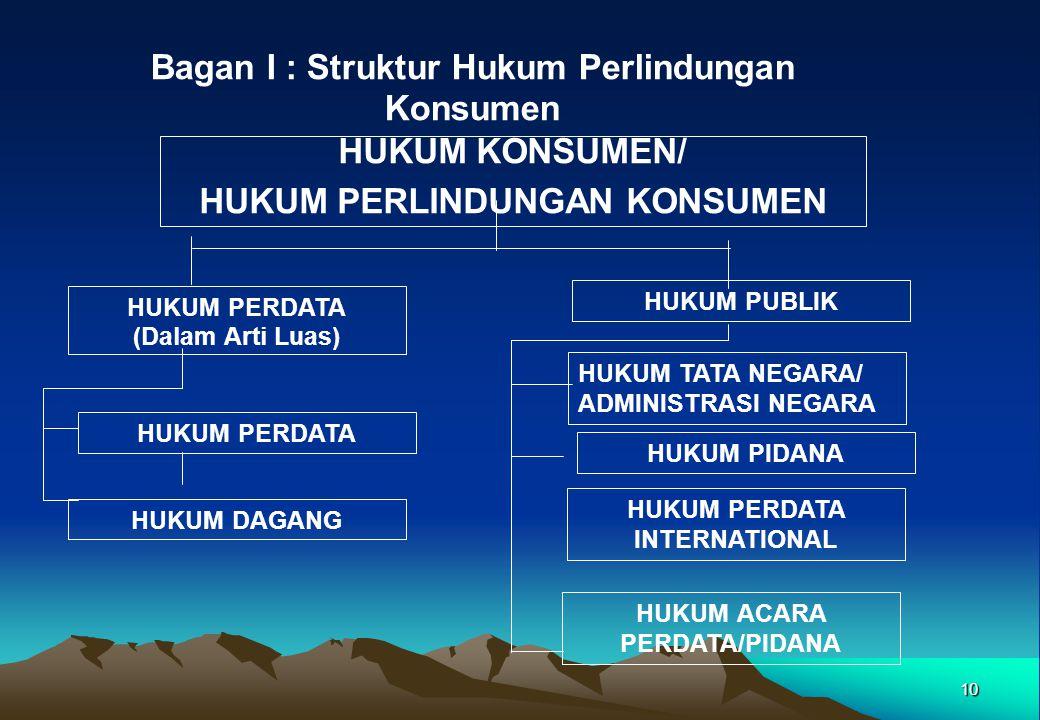 Bagan I : Struktur Hukum Perlindungan Konsumen