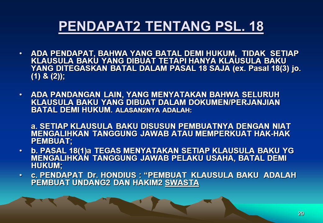 PENDAPAT2 TENTANG PSL. 18