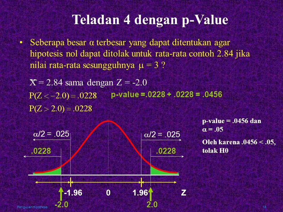 Teladan 4 dengan p-Value