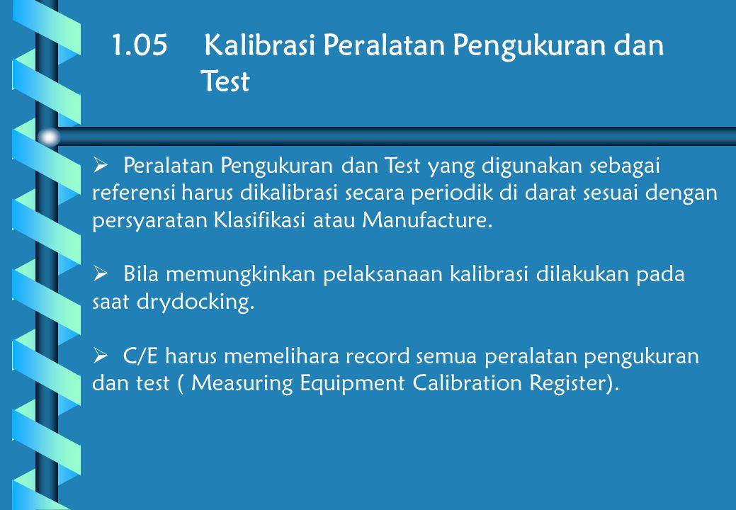 1.05 Kalibrasi Peralatan Pengukuran dan Test