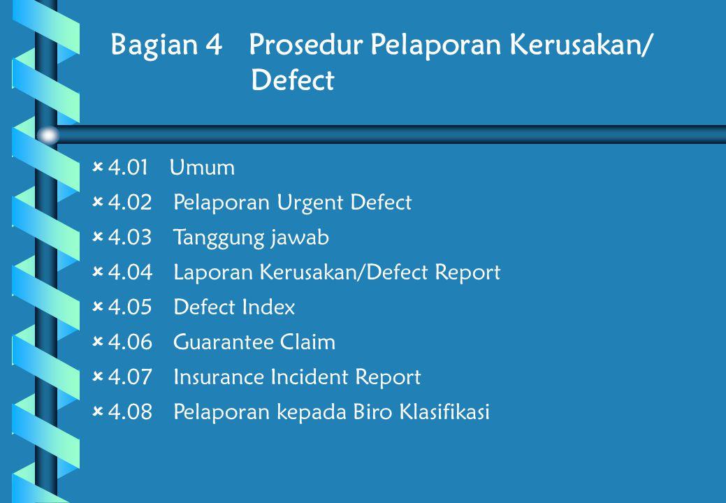 Bagian 4 Prosedur Pelaporan Kerusakan/ Defect