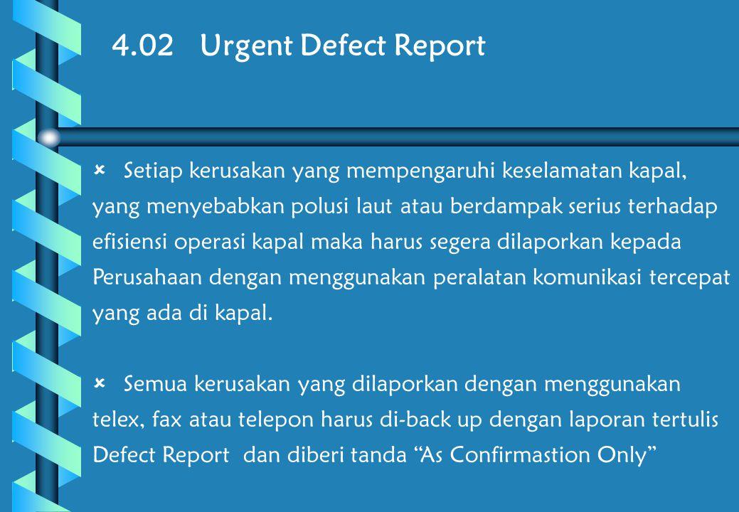 4.02 Urgent Defect Report
