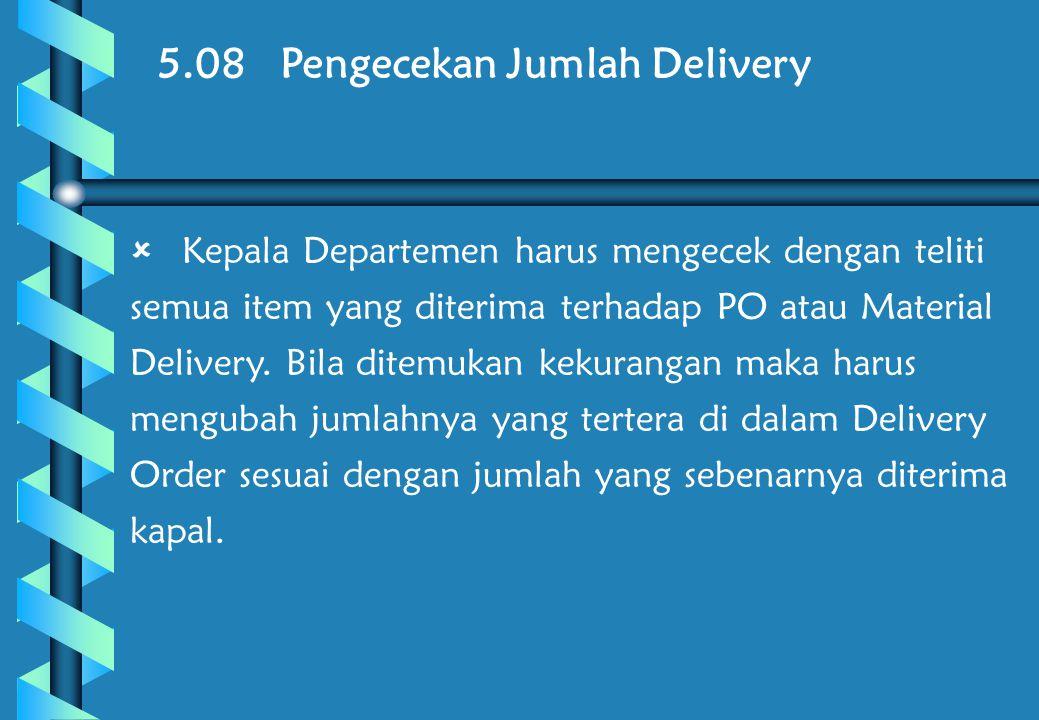 5.08 Pengecekan Jumlah Delivery