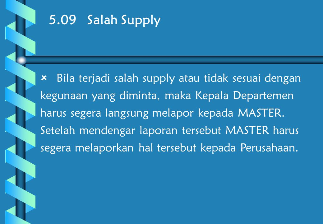 5.09 Salah Supply