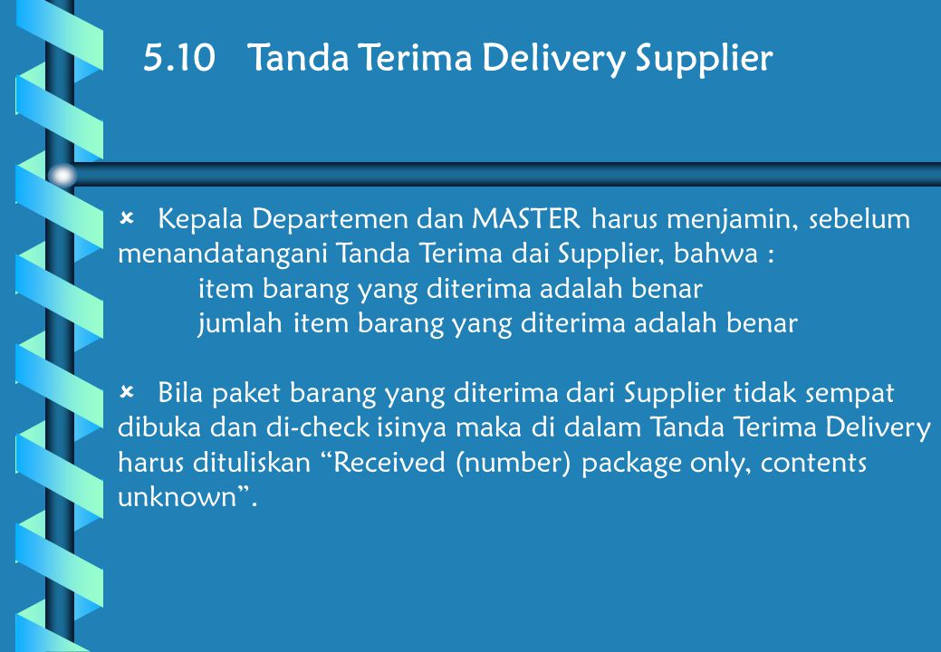 5.10 Tanda Terima Delivery Supplier