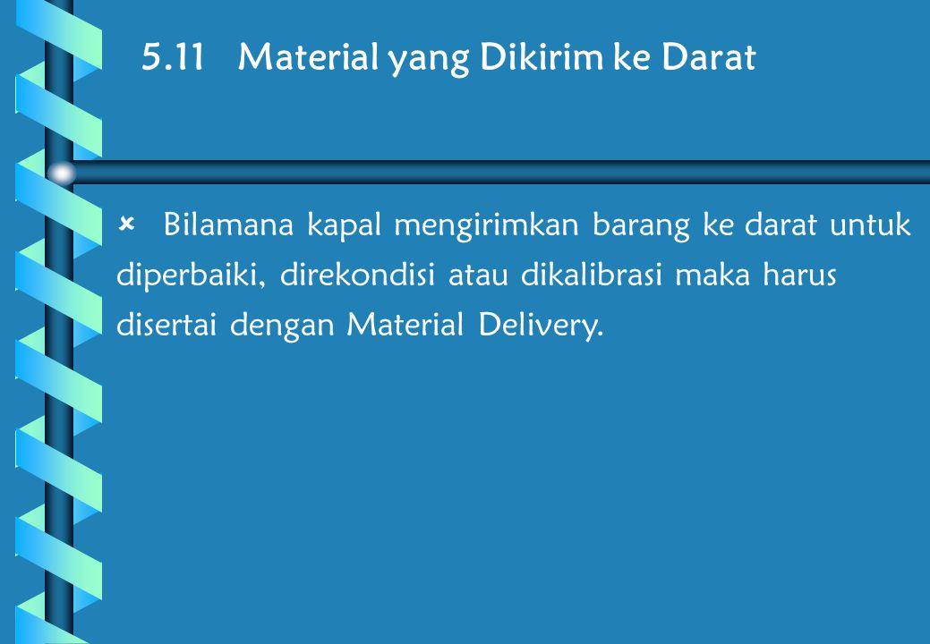 5.11 Material yang Dikirim ke Darat
