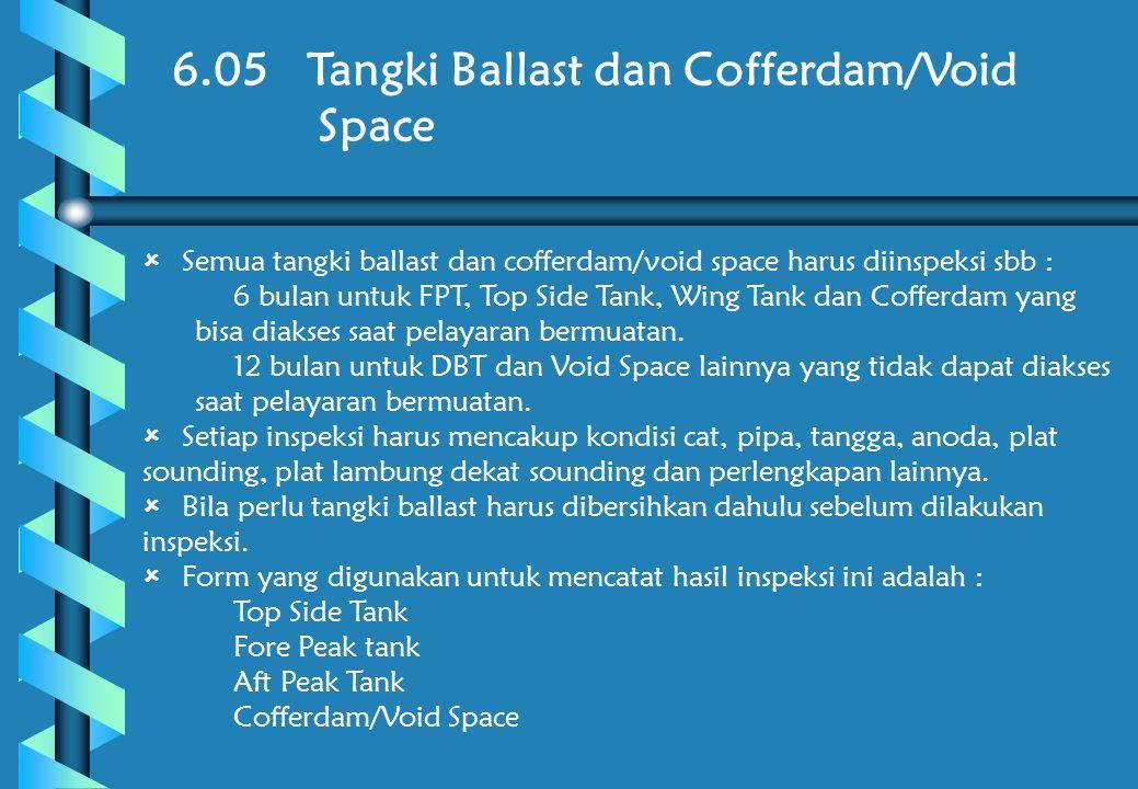 6.05 Tangki Ballast dan Cofferdam/Void Space
