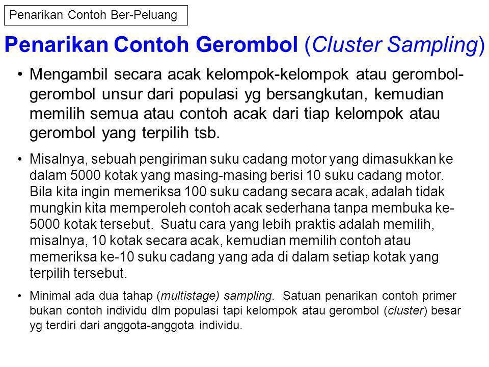 Penarikan Contoh Gerombol (Cluster Sampling)