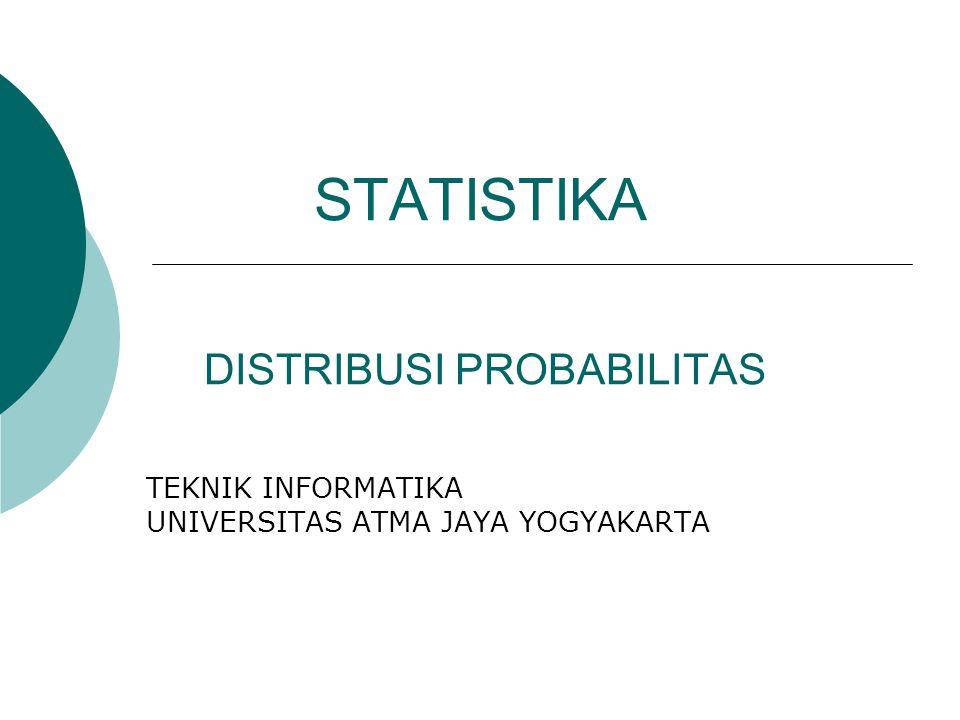 STATISTIKA DISTRIBUSI PROBABILITAS