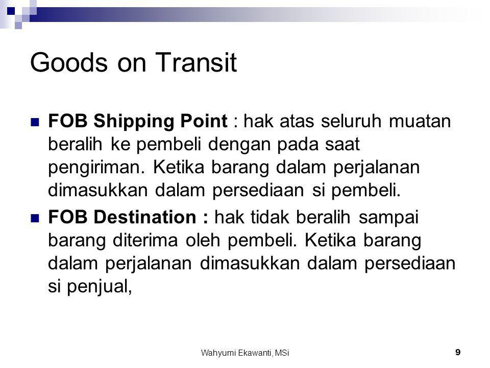 Goods on Transit