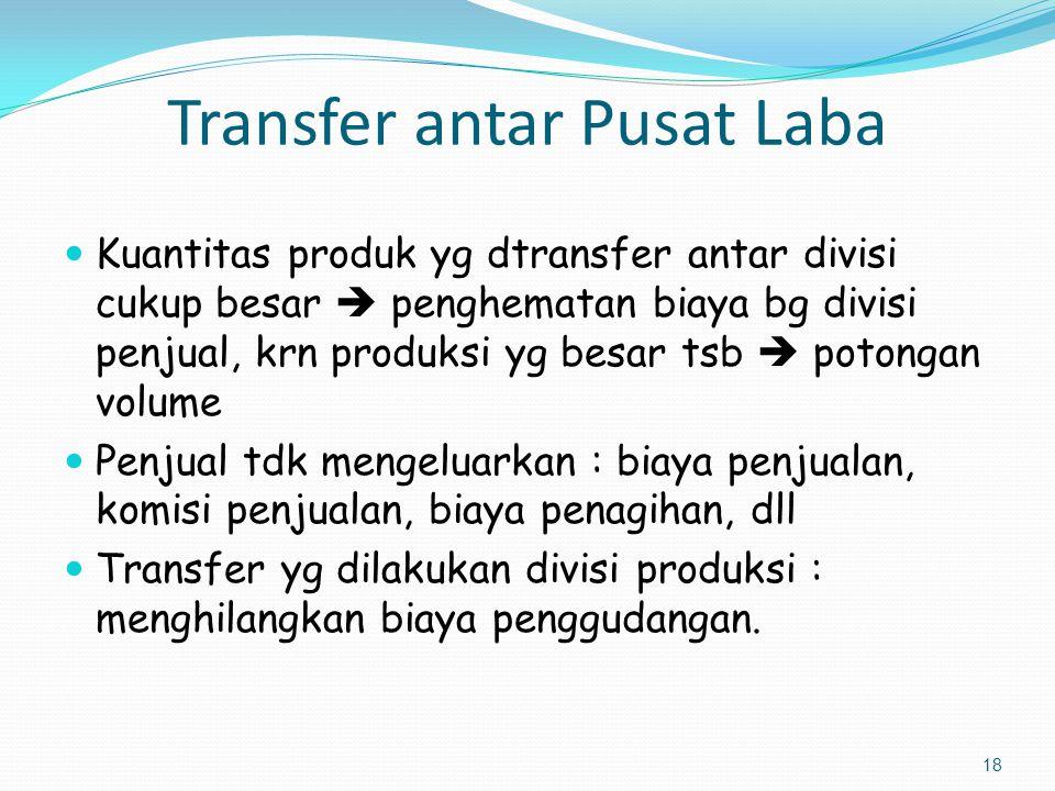 Transfer antar Pusat Laba