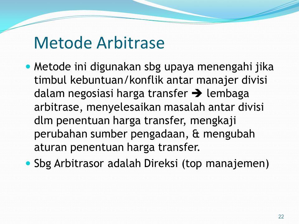Metode Arbitrase