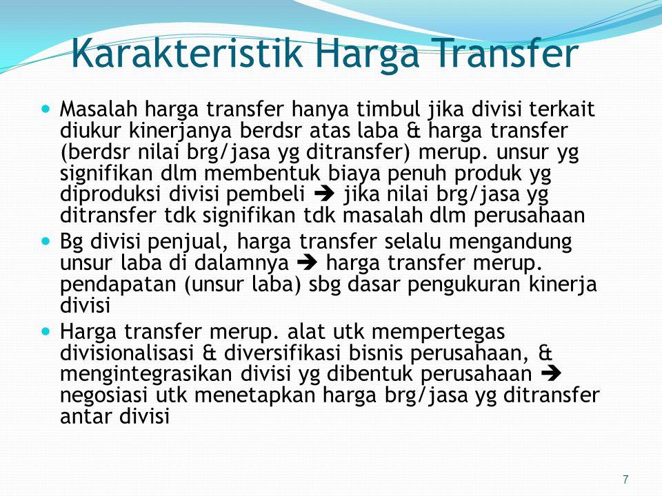 Karakteristik Harga Transfer