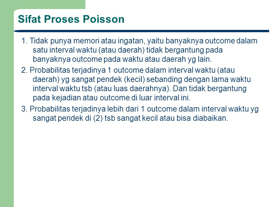 Sifat Proses Poisson