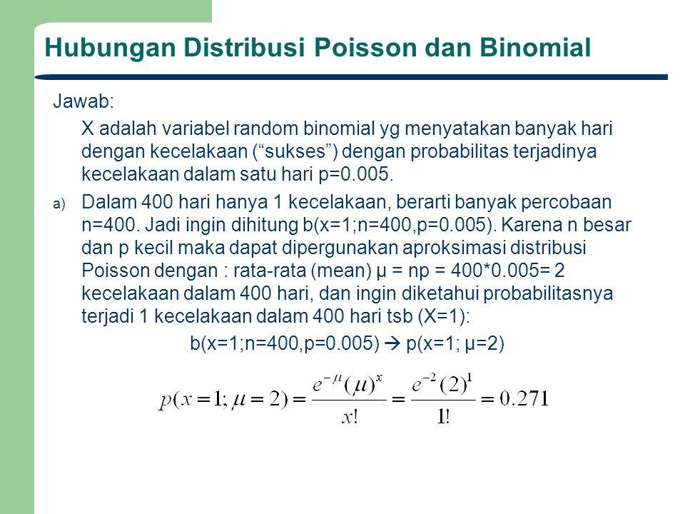 Hubungan Distribusi Poisson dan Binomial