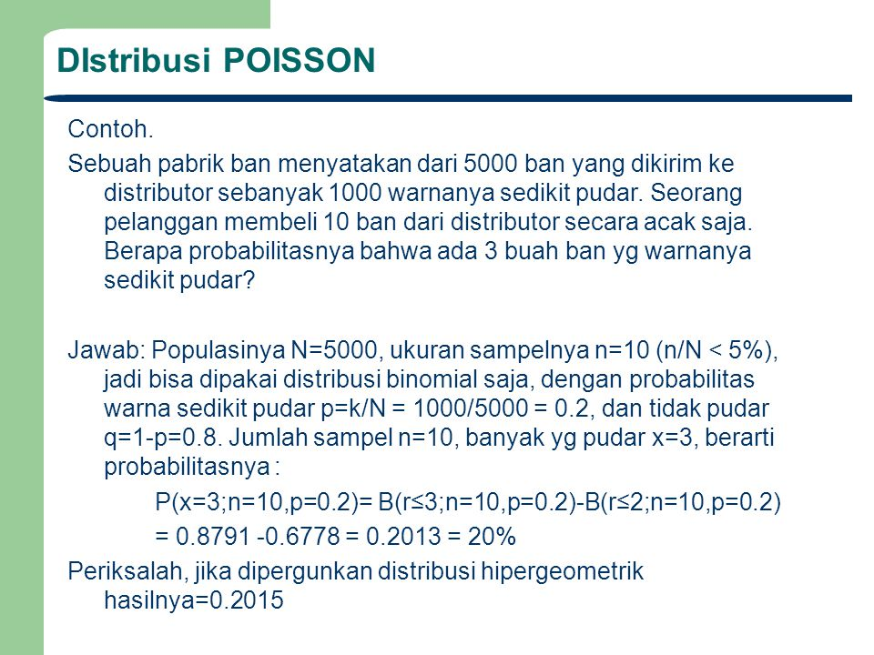 DIstribusi POISSON Contoh.
