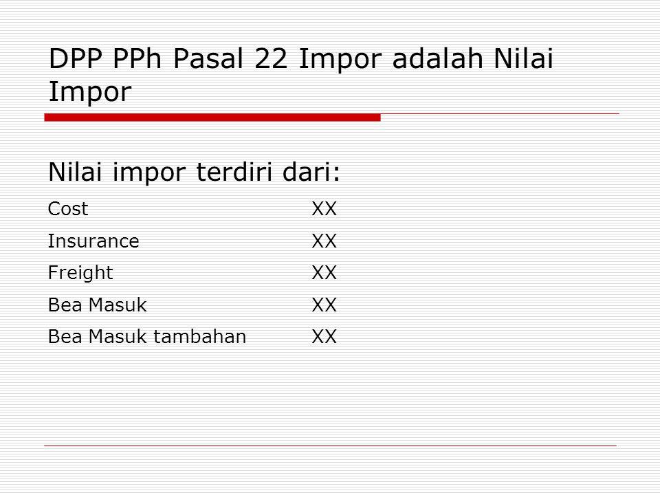 DPP PPh Pasal 22 Impor adalah Nilai Impor
