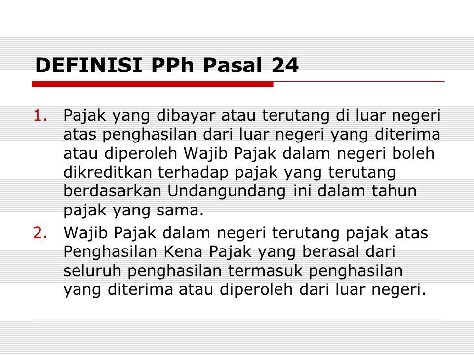 DEFINISI PPh Pasal 24