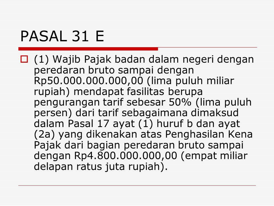 PASAL 31 E