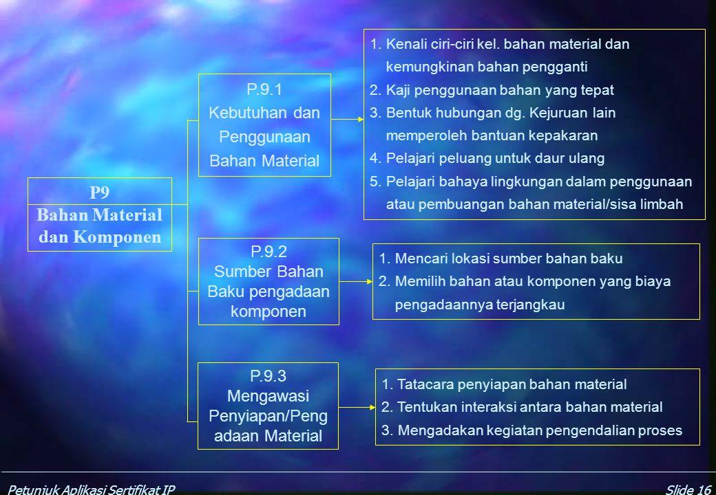 Bahan Material dan Komponen