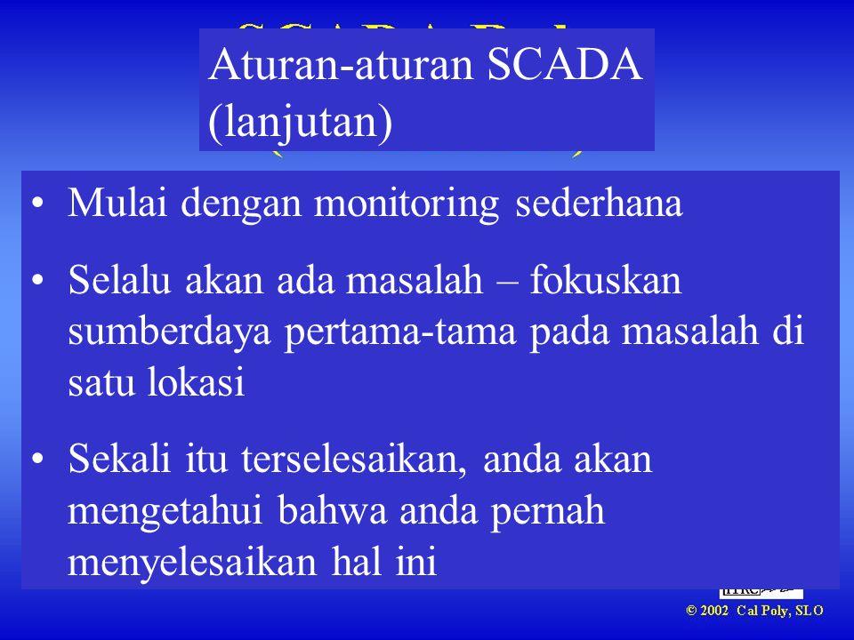 Aturan-aturan SCADA (lanjutan)