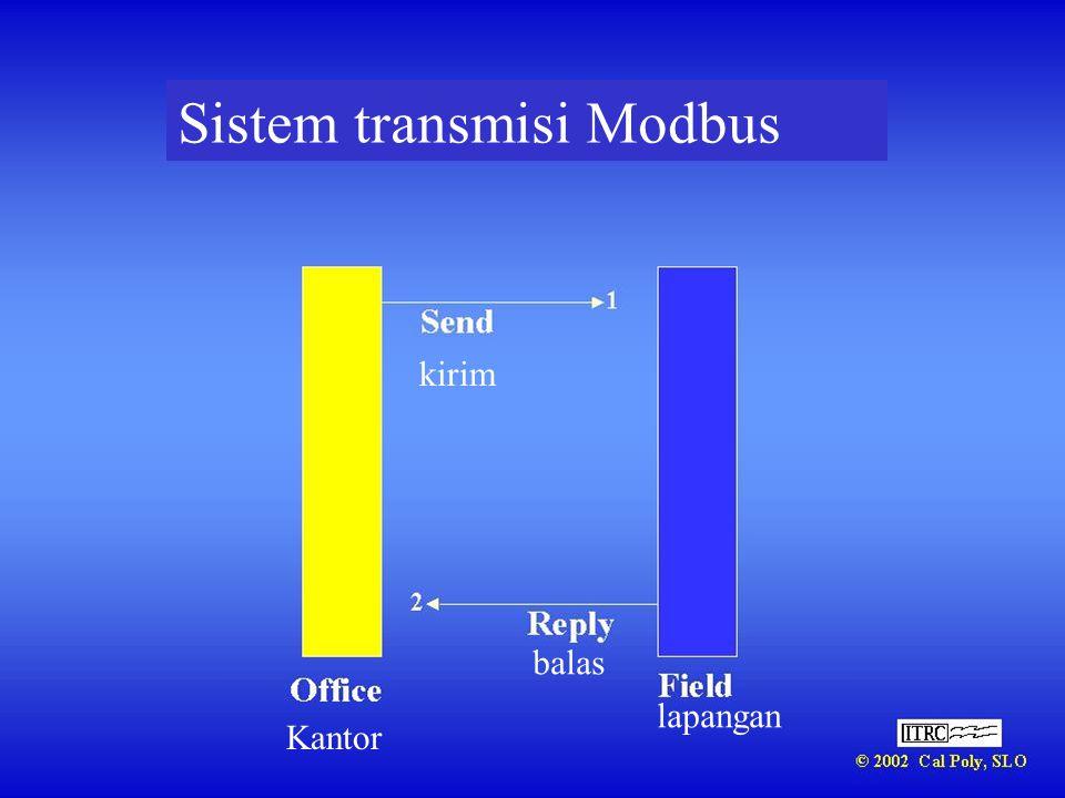 Sistem transmisi Modbus