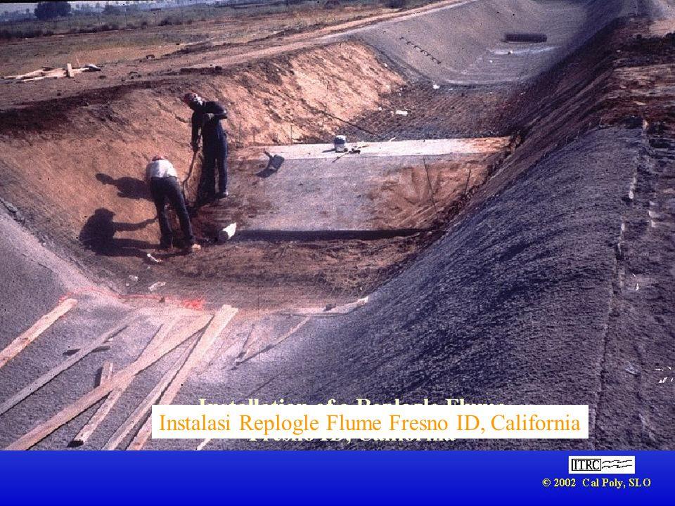 Instalasi Replogle Flume Fresno ID, California