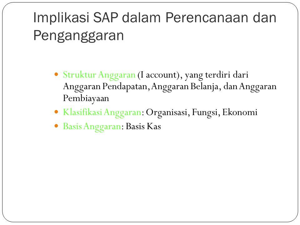 Implikasi SAP dalam Perencanaan dan Penganggaran