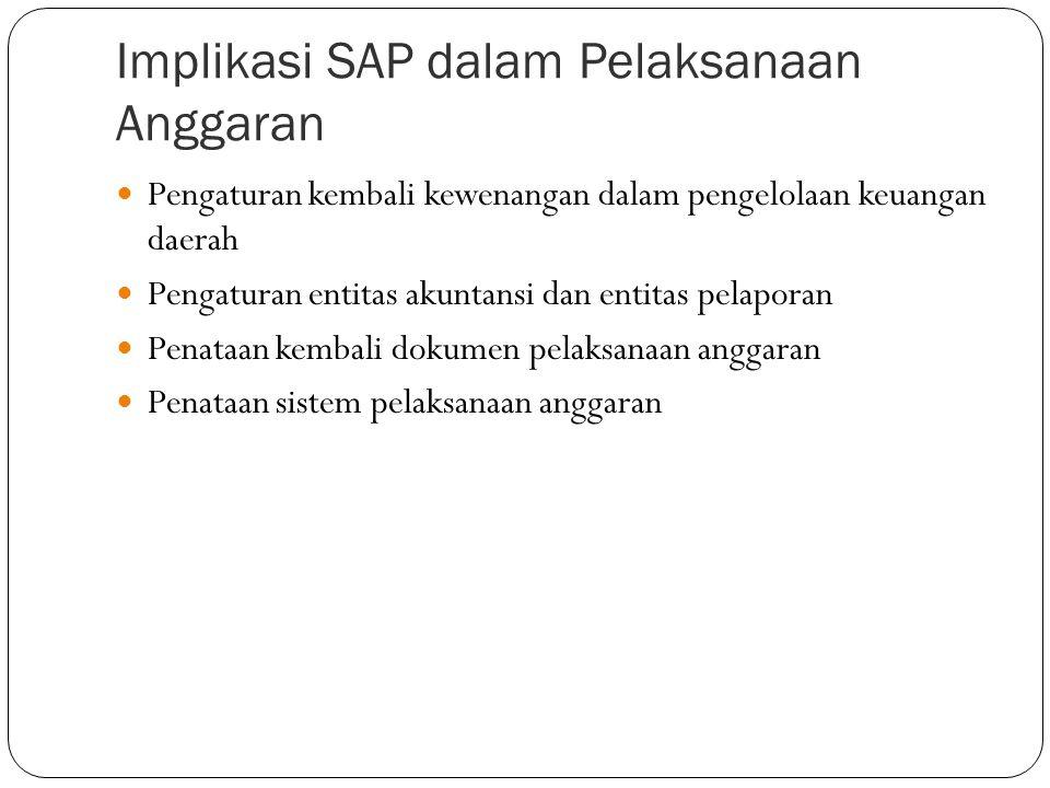 Implikasi SAP dalam Pelaksanaan Anggaran