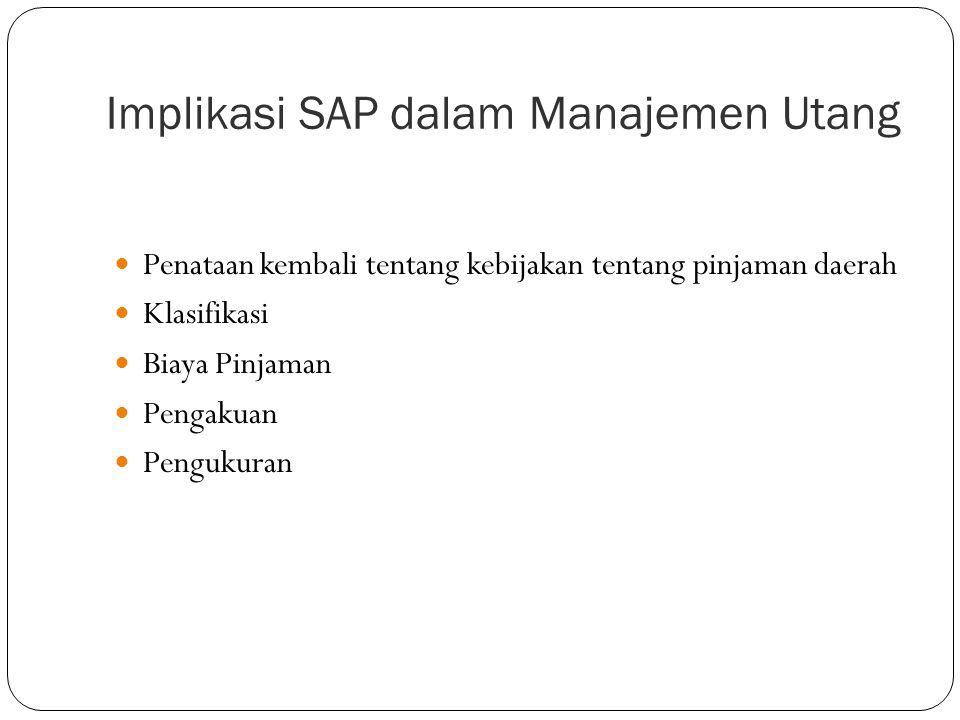 Implikasi SAP dalam Manajemen Utang