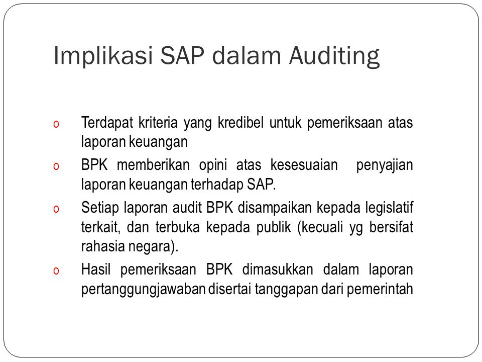 Implikasi SAP dalam Auditing