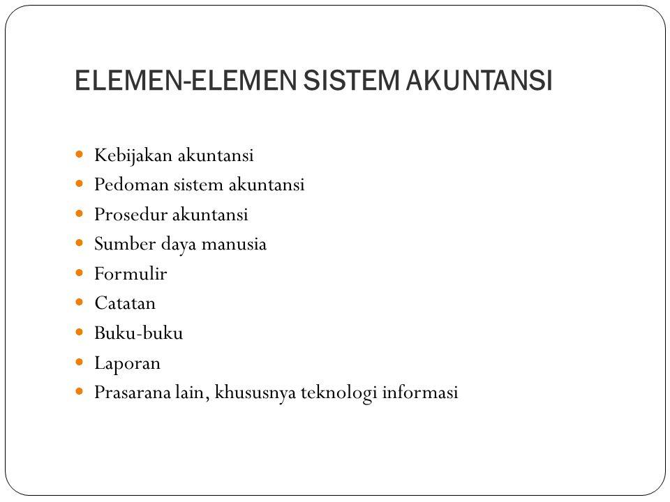 ELEMEN-ELEMEN SISTEM AKUNTANSI